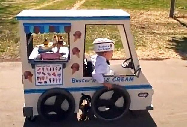 Ice Cream Truck Video Kid Falls