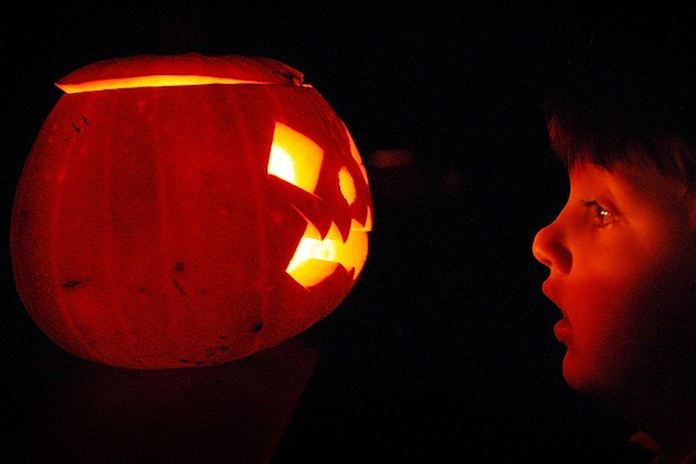 Children Enjoy Traditional Halloween Pumpkins