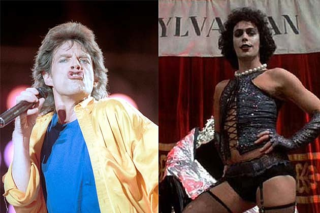 mick jagger and dr. frank n. furter