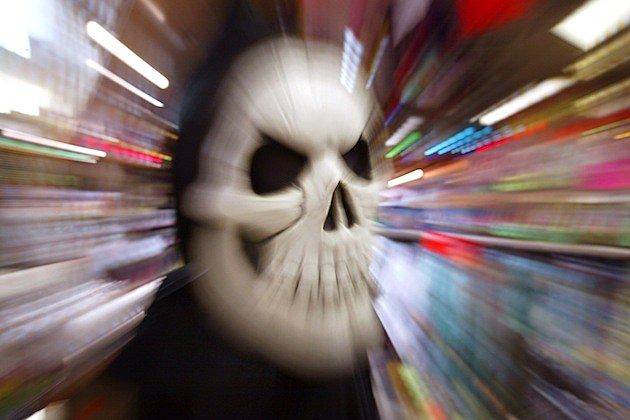 Consumers Prepare For Halloween skeleton mask costume