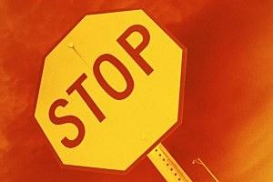 stop sign arrest