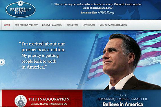 Team Romney Accidentally Leaks Victory Website
