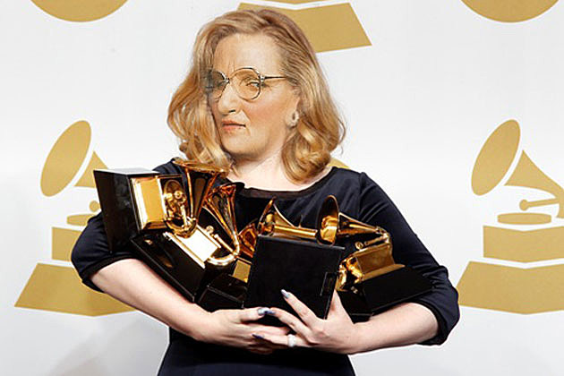 Adele as Mrs.Doubtfire Grammy