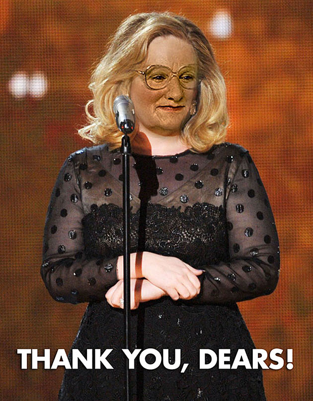 Adele as Mrs.Doubtfire Dear