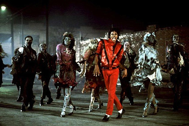 michael jackson zombies thriller red jacket