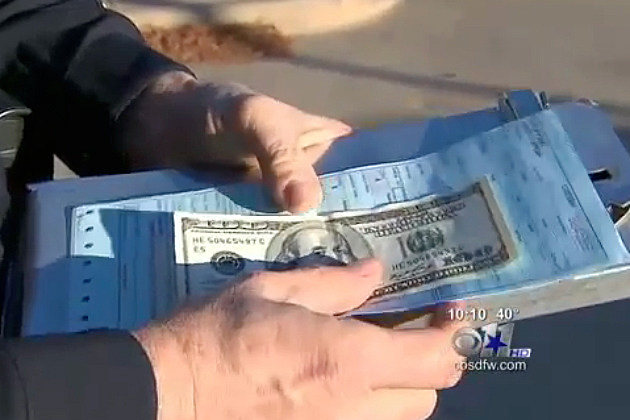 Cop Wraps $100 Bill in Ticket