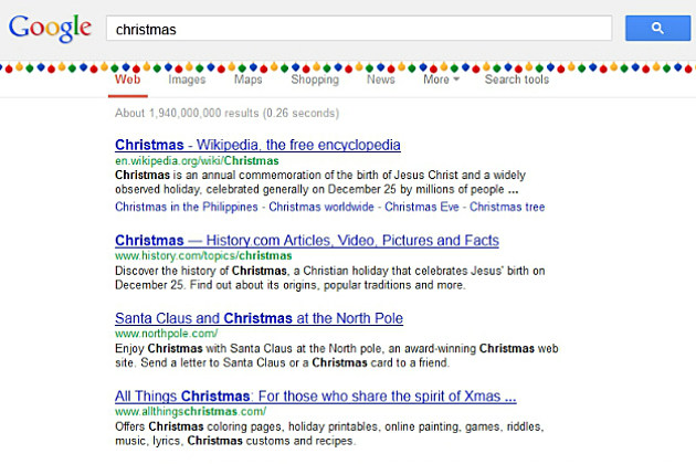 Google Adds New Easter Eggs for Christmas and Festivus
