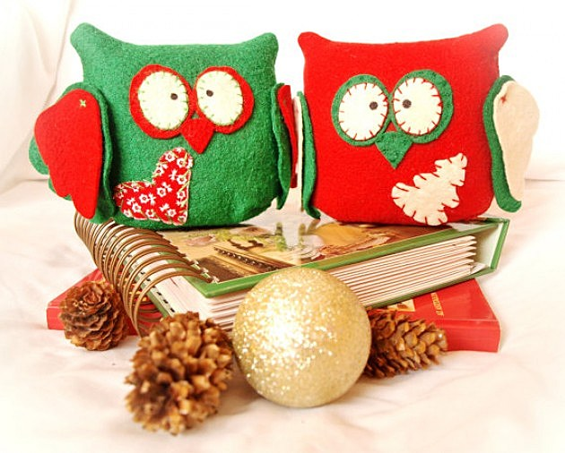 Christmas Owl Lamp