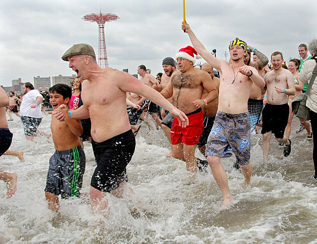 new year swim