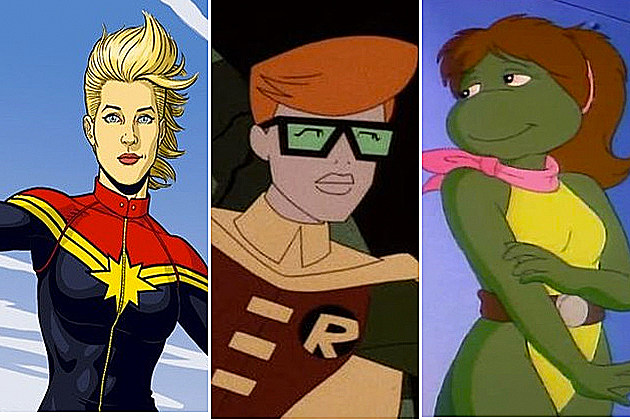 Female versions of male superheroes