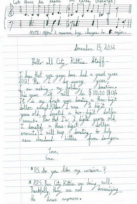 Evan letter to cat rescue
