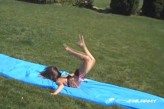 Water slide fail