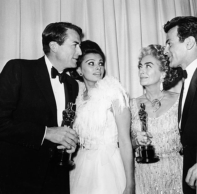 Gregory Peck Sofia Loren Joan Crawford