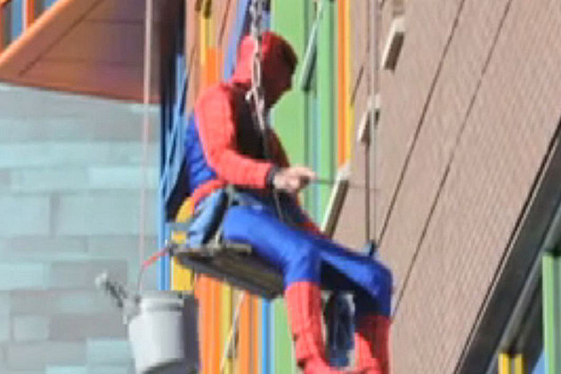 Spider man window washer