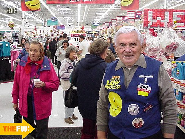 walmart greeter pope