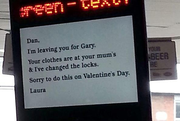 Valentine's Day Dumping