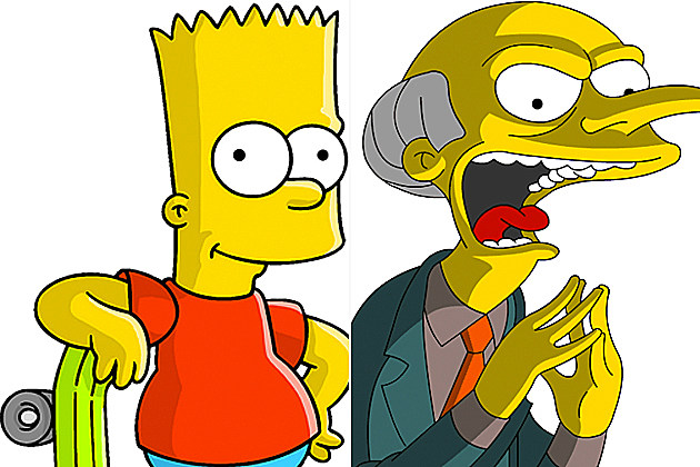 Bart Simpson and Mr. Burns