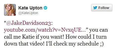 Kate Upton Twitter