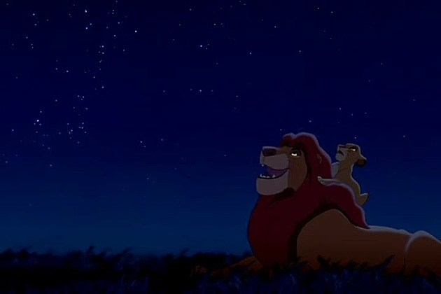 Mufasa and Simba look at the stars