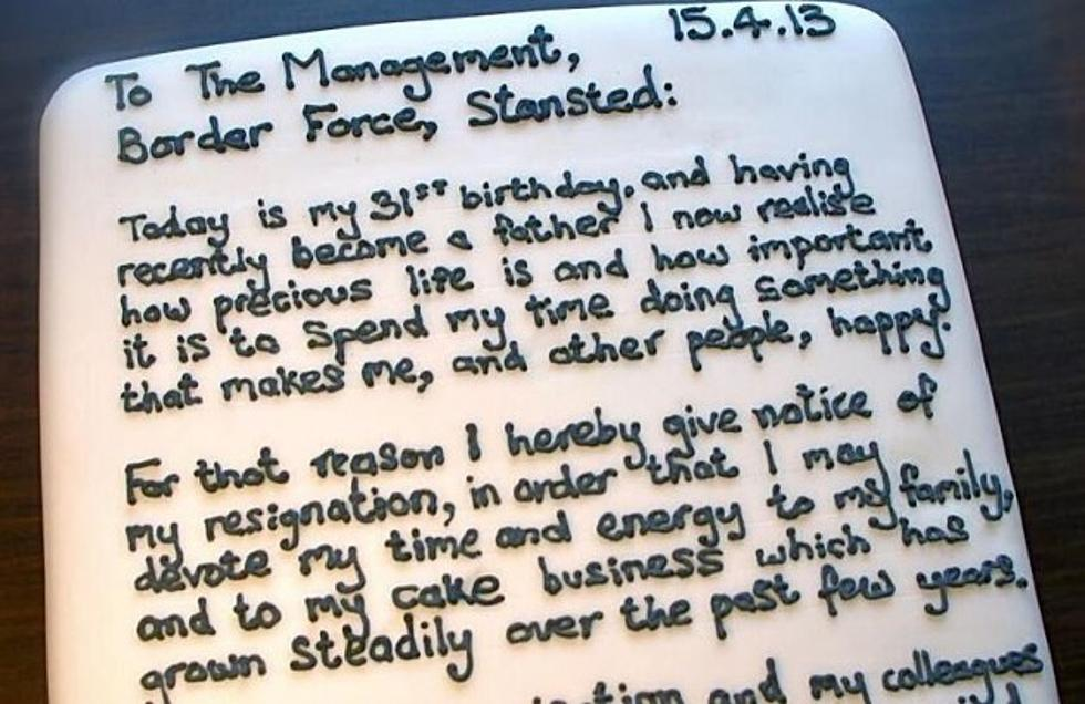 Cake Resignation Letter Is the Best Way to Quit a Job