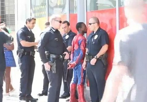 SPIDER-MAN PATTED DOWN