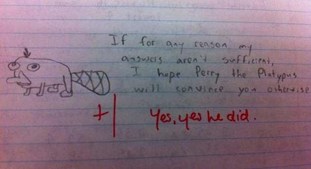 Kid's Test Answers