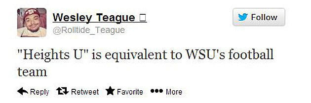 WESLEY TEAGUE TWEET