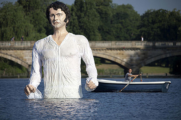 Gigantic Colin Firth Mr. Darcy Statue