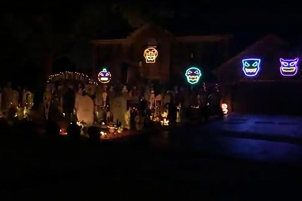 bohemian rhapsody halloween house light show is frighteningly good