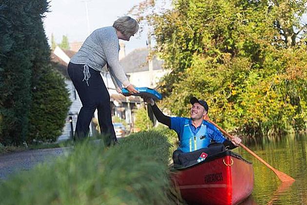 Domino's Canoe Delivery