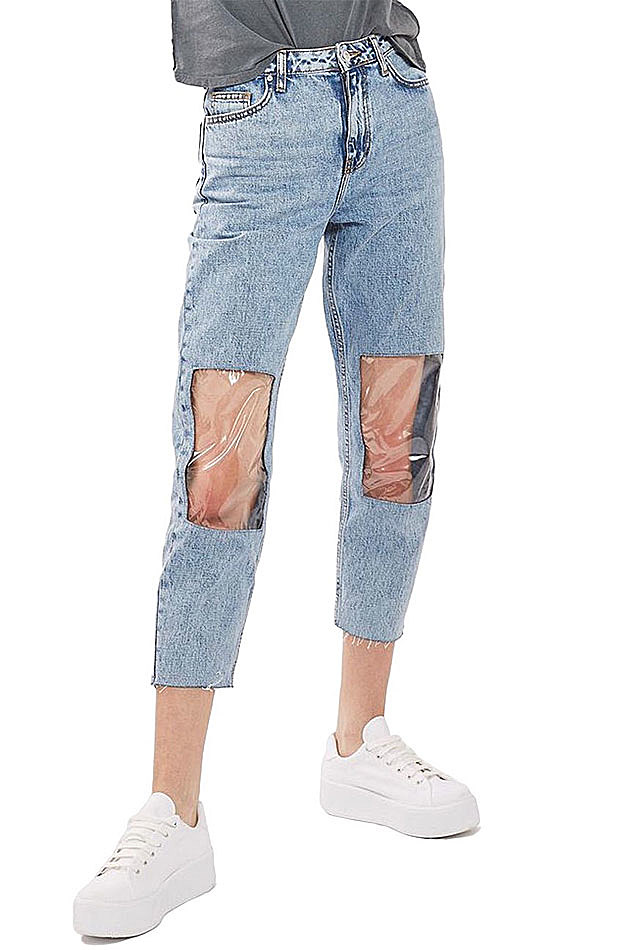 Clear Mom Jeans